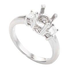 Natalie K Platinum and Diamond Engagement Ring Mounting