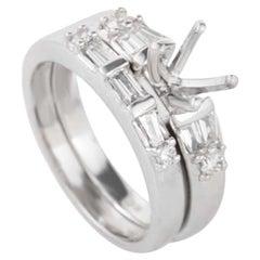 Natalie K Platinum Diamond Bridal Mounting Set