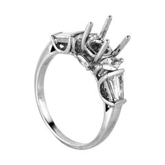 Natalie K Trois Diamants 14 Karat White Gold Ring Mounting NAKAG20-082812