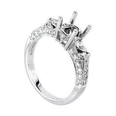 Natalie K Trois Diamants White Gold Diamond Engagement Ring Mounting NAKAG18