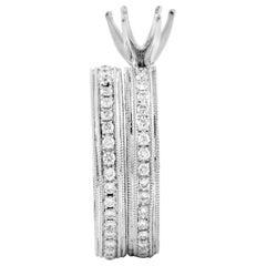 Natalie K Women's 14 Karat White Gold Diamond Bridal Mounting Set SM4-071962W