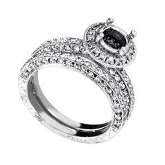Natalie K Women's 14 Karat White Gold Diamond Bridal Mounting Set SM4-12930W