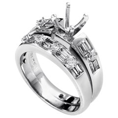 Natalie K Women's 18 Karat White Gold Diamond Bridal Mounting Set EN8-13161W