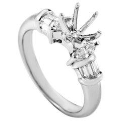 Natalie K Women's 18 Karat White Gold Diamond Ring Mounting SM8-051564W
