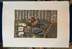 Untitled (man sleeping  at table playing cards)
