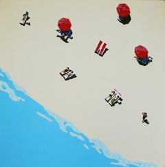 Aerial beach 1 - landscape painting