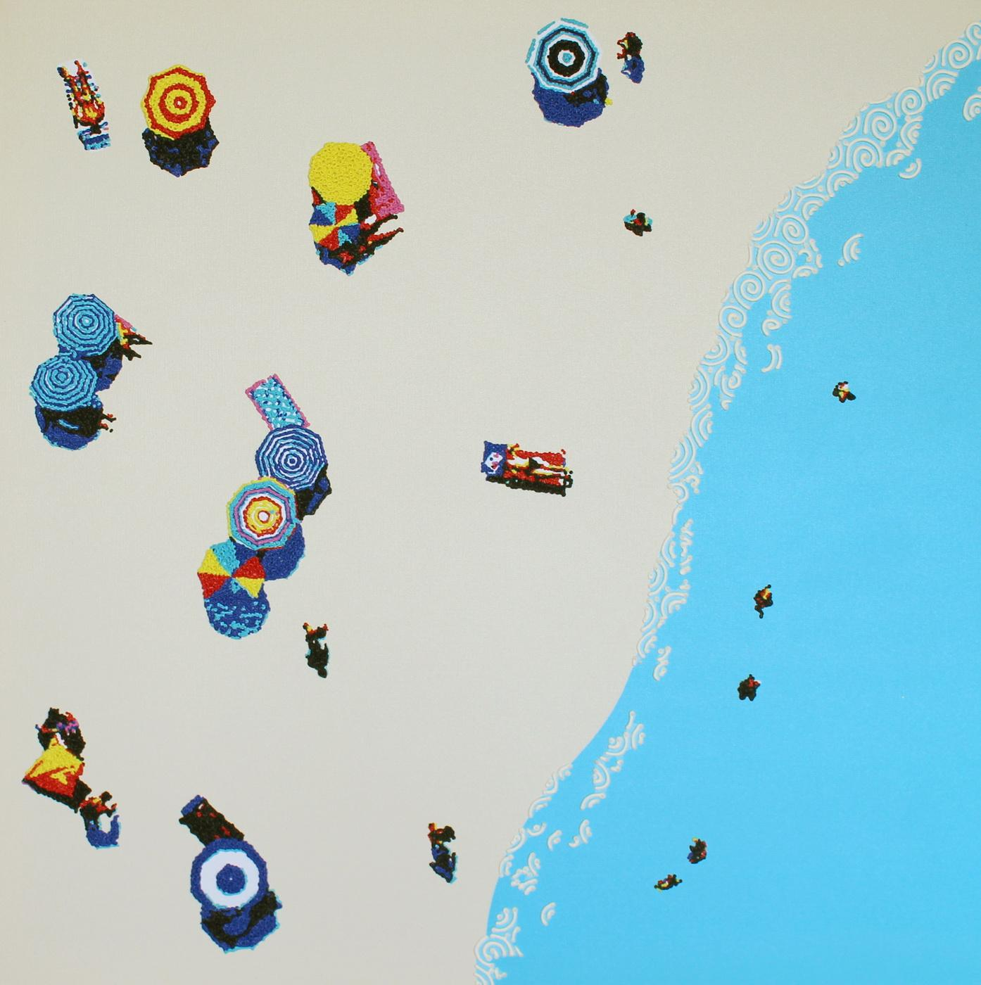 Aerial beach 2 - landscape painting