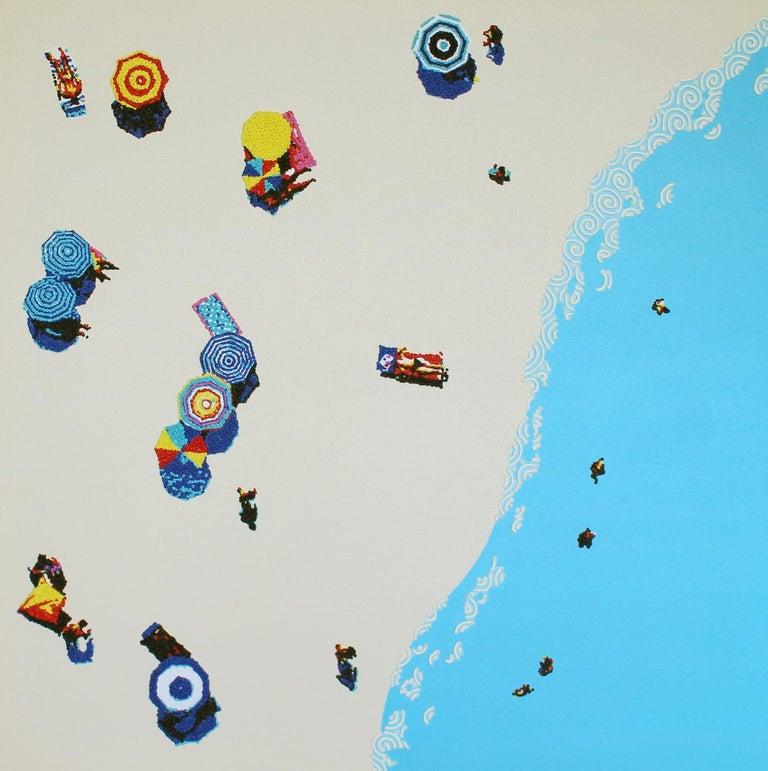 Natan Elkanovich Landscape Painting - Aerial beach 2 - landscape painting