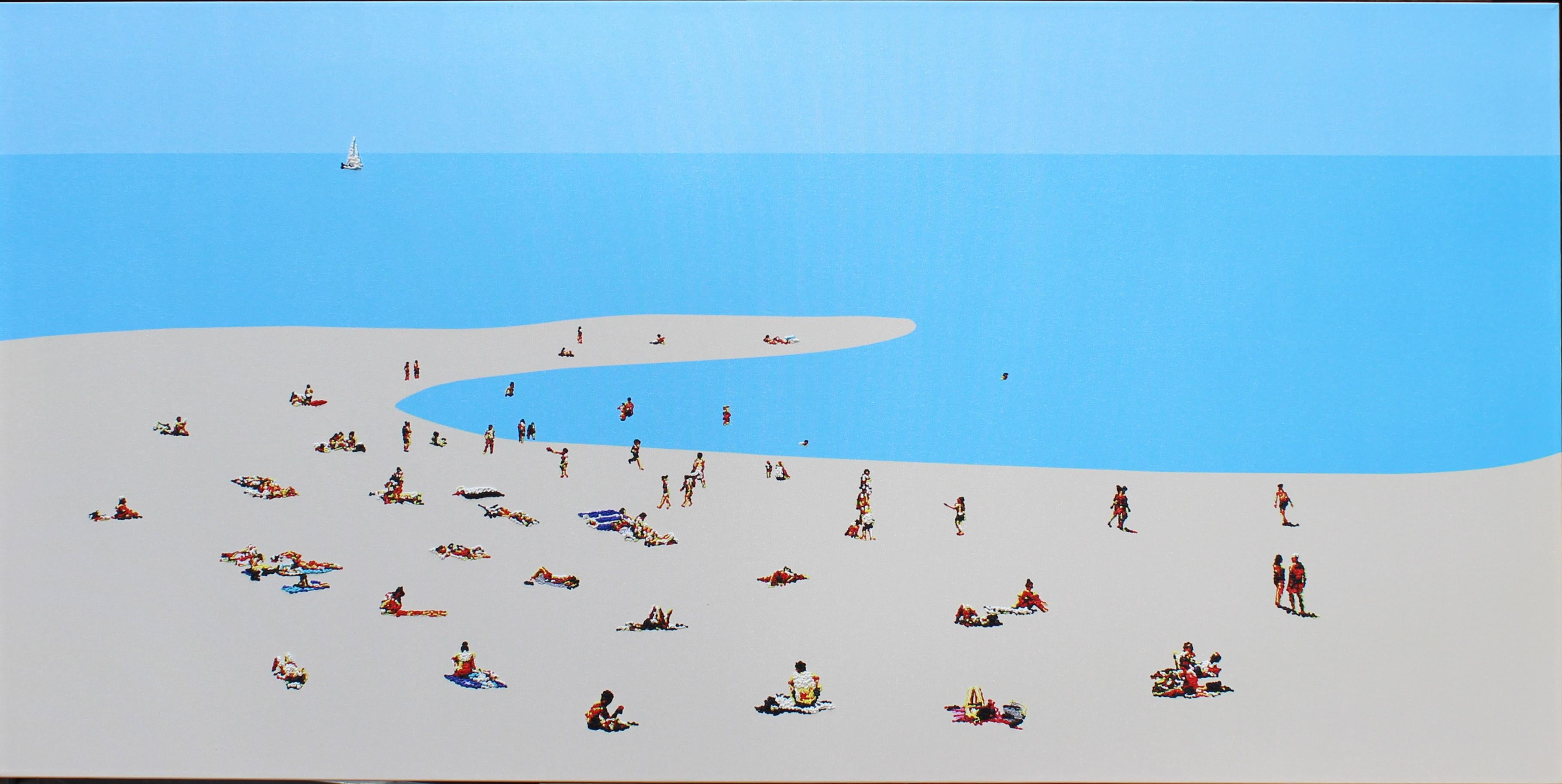 Beach mood 5 - landscape painting