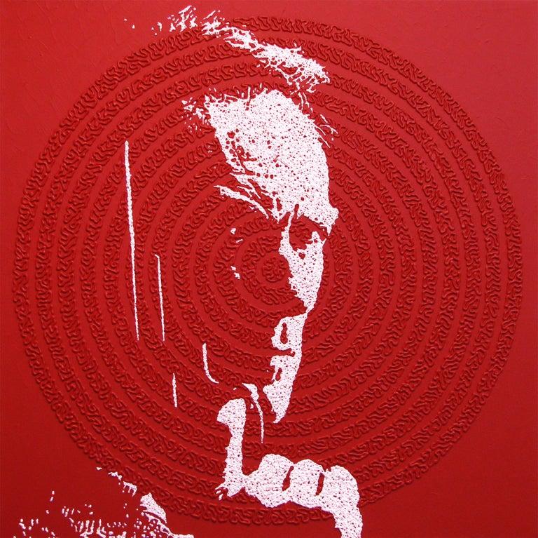 Clint - portrait icon painting For Sale 1