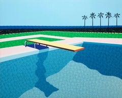 Homage to Hockney 1 - landscape painting
