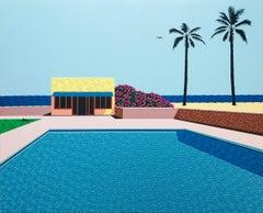 Homage to Hockney 3 - landscape painting