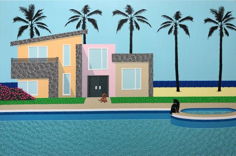 Natan Elkanovich Landscape Painting - Sitting on the edge - landscape painting