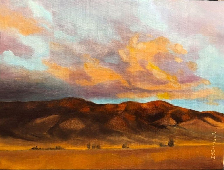 "Natasha Isenhour Still-Life Painting - ""Morning in the High Desert"" Oil Painting"