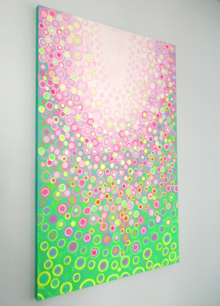 Lilac and Green, Abstract Painting For Sale 1