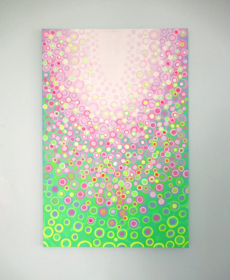 Lilac and Green, Abstract Painting For Sale 2