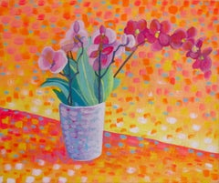 Orchid in the Vase, Original Painting