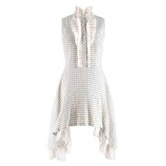 Natasha Zinko Grey Checked Sleeveless Shirt Dress - Size US 6