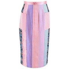 Natasha Zinko Patchwork High Waist Midi Skirt - Size US 4