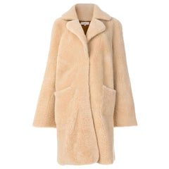 Natasha Zinko Reversible Single-Breasted Shearling Coat