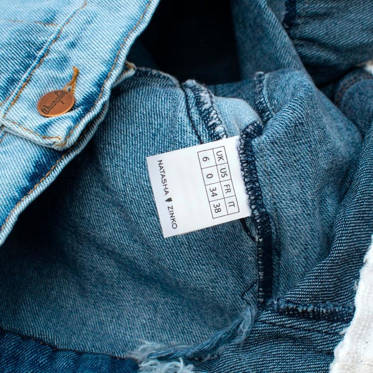 Natasha Zinko X Wrangler Layered Denim Jacket XXS 6  In New Condition For Sale In London, GB