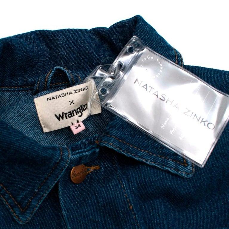 Women's Natasha Zinko X Wrangler Layered Denim Jacket XXS 6  For Sale