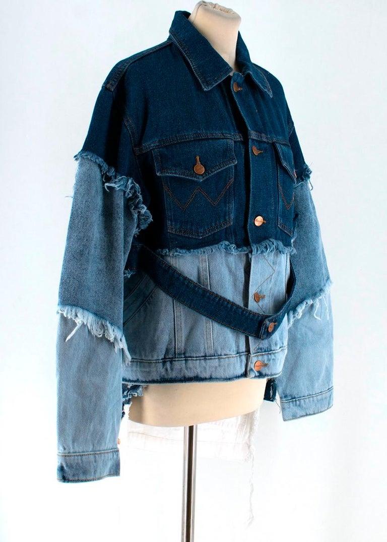 Natasha Zinko X Wrangler Layered Denim Jacket XXS 6  For Sale 2