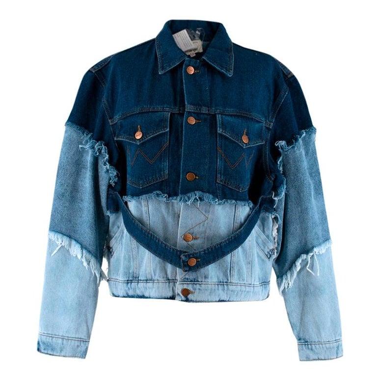 Natasha Zinko X Wrangler Layered Denim Jacket XXS 6  For Sale