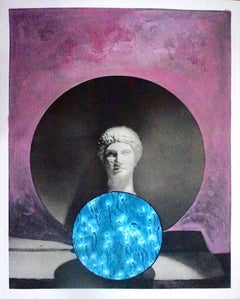 """Sphere of Life, #2238"", Mixed Media Collage, 2018"