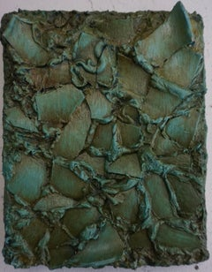 Tactile memory #111 One of a kind, Porcelain and Oil on Canvas
