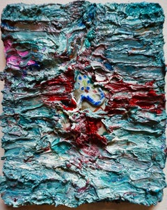 Tactile memory #15 One of a kind, Mixed media on canvas