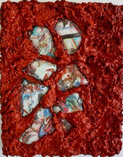 Tactile memory #26 One of a kind, Mixed media on canvas