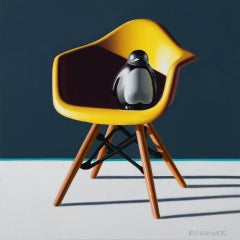Puppy the Penguin, Yellow Eames Chair
