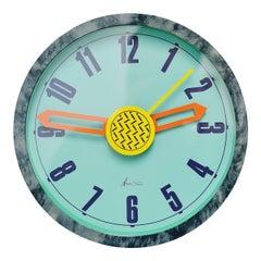 Nathalie du Pasquier George Sowden Neos Clock Italy 1988 Grey
