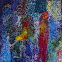 Fairy light, Painting, Acrylic on Canvas