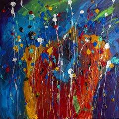 Festive Palette, Painting, Acrylic on Canvas