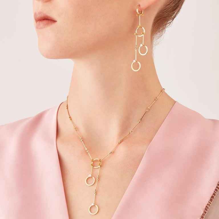 Nathalie Jean 0.40 Carat Diamond 1.02 Carat Citrine Gold Drop Dangle Earrings For Sale 1