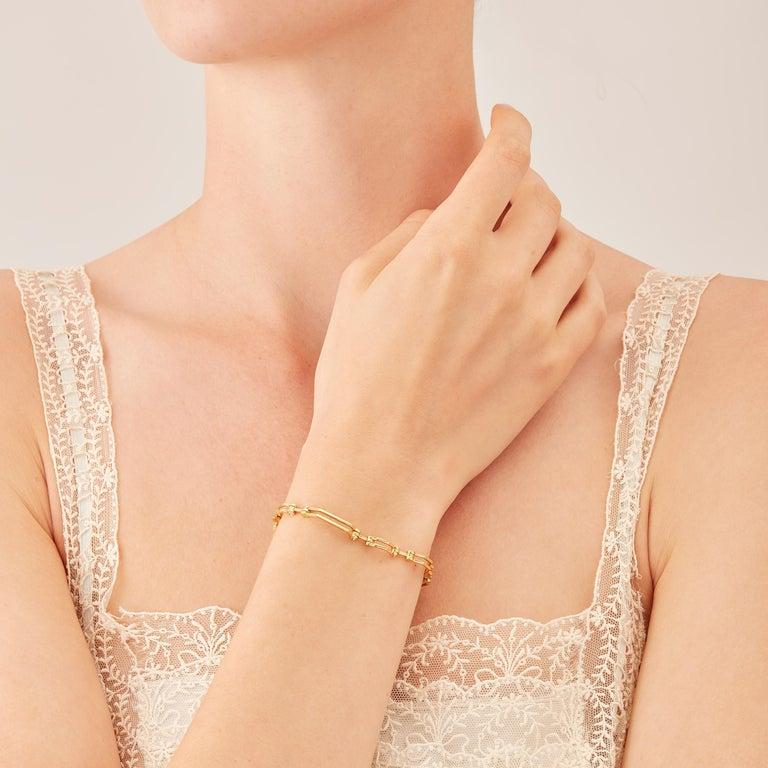 Women's Nathalie Jean Contemporary 0.324 Carat Diamond Gold Articulated Link Bracelet For Sale