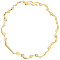 Nathalie Jean Contemporary 0.324 Carat Diamond Gold Articulated Link Bracelet