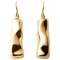 Nathalie Jean Contemporary 18 Karat Gold Drop Dangle Sculpture Earrings