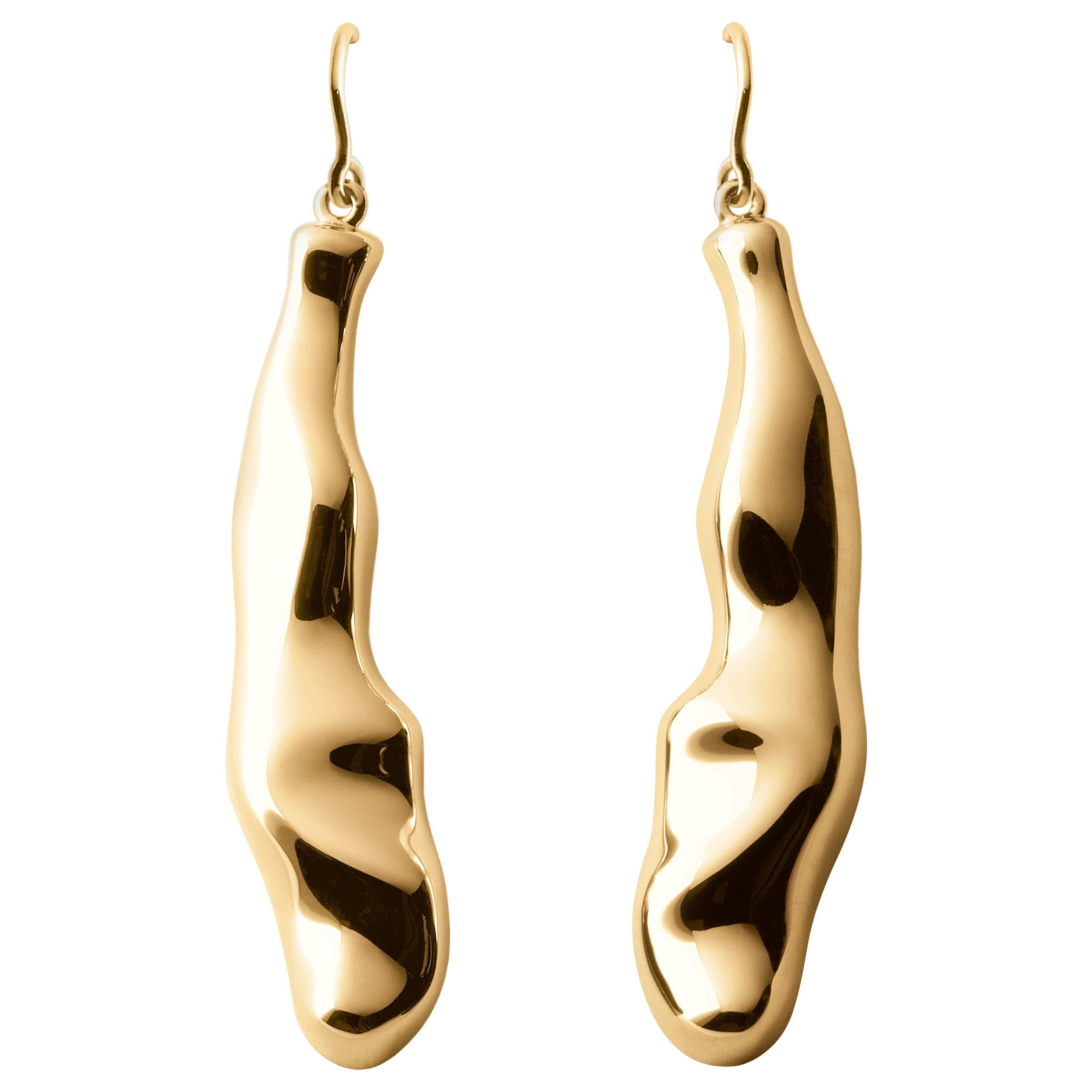 Nathalie Jean Contemporary Gold Limited Edition Drop Dangle Earrings