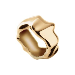 Nathalie Jean Contemporary Gold Limited Edition Fashion Band Sculpture Ring