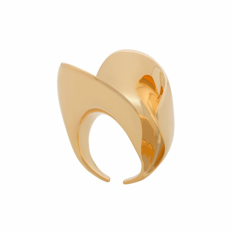 Nathalie Jean Contemporary Gold Limited Edition Sculpture Cocktail Ring In New Condition For Sale In Milan, Lombardia