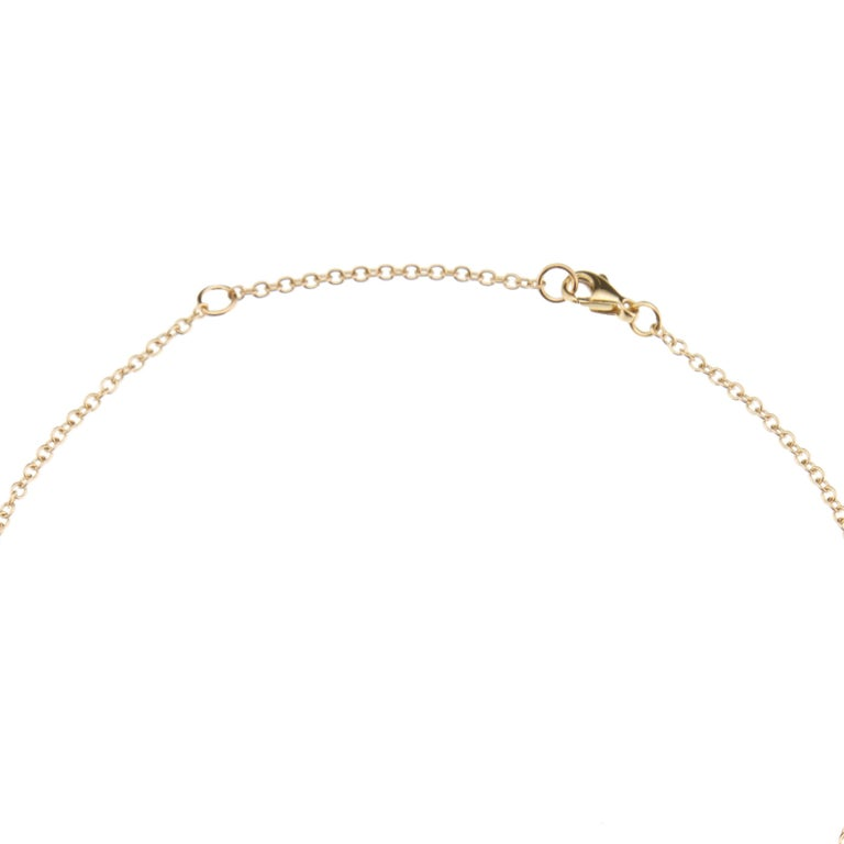 Nathalie Jean Contemporary Pearl Yellow Gold Pendant Drop Chain Necklace In New Condition For Sale In Milan, Lombardia