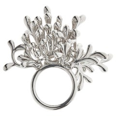 Nathalie Jean Contemporary Sterling Silver Cocktail Ring