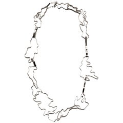 Nathalie Jean Contemporary Sterling Silver Limited Edition Link Chain Necklace