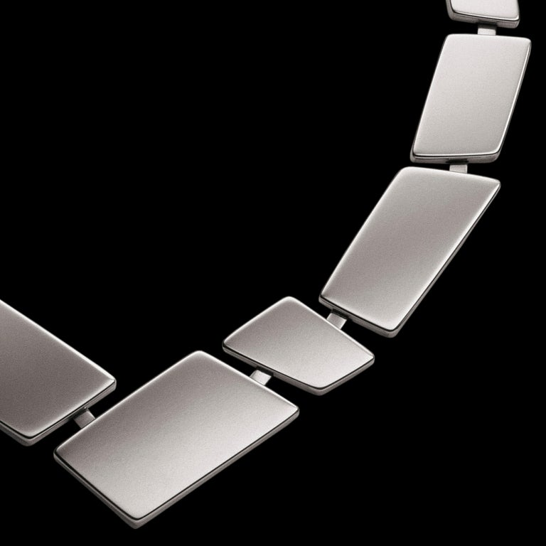 Nathalie Jean Contemporary Sterling Silver Limited Edition Link Necklace For Sale 1