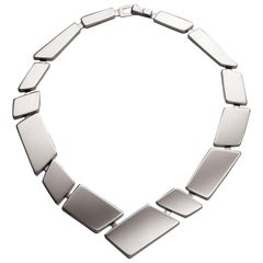 Nathalie Jean Contemporary Sterling Silver Limited Edition Link Necklace