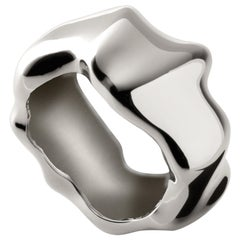 Nathalie Jean Contemporary Sterling Silver Sculpture Ring