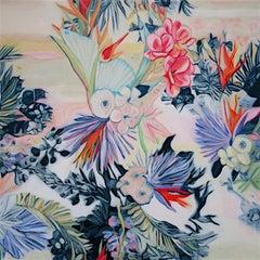 Fete VII - original Floral flower realism painting Contemporary Art 21st Century
